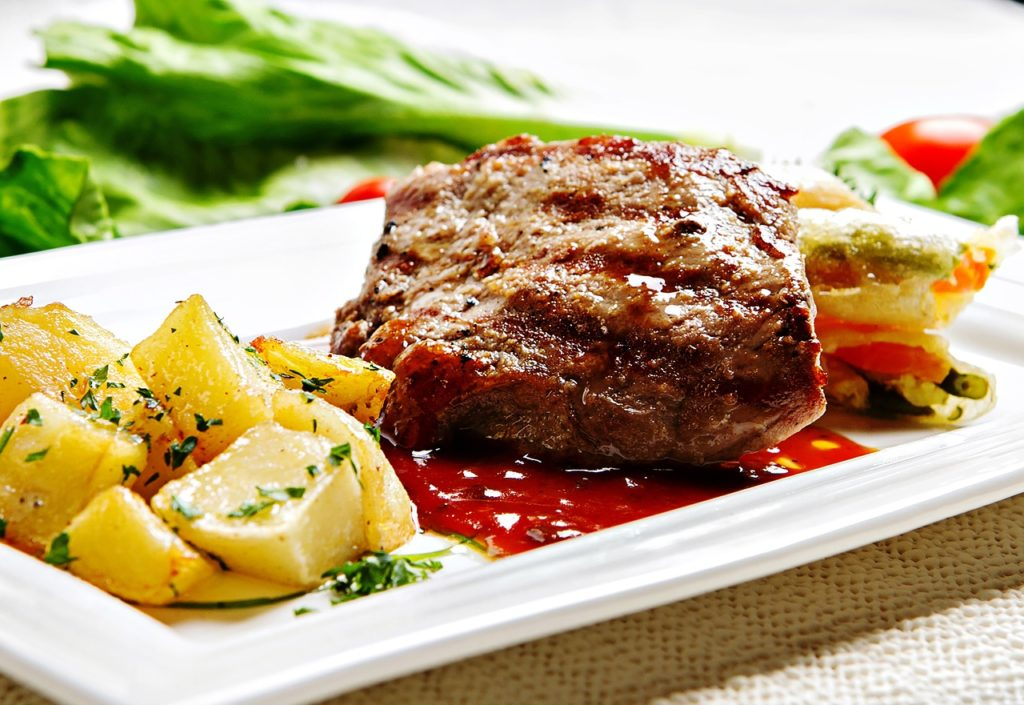beef, steak, meat