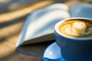 coffee, book, caffeine