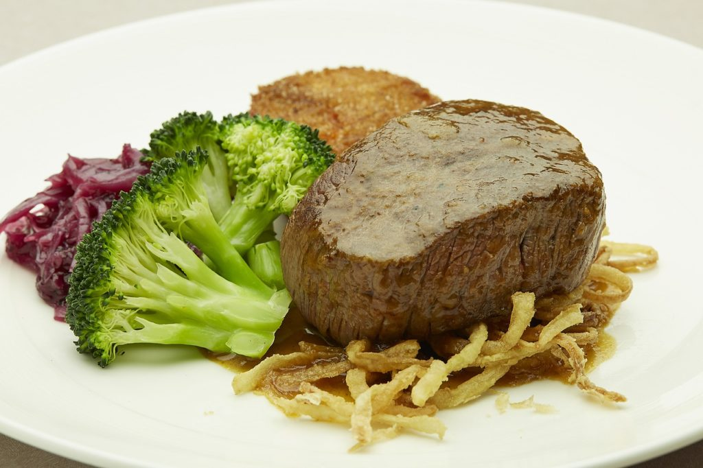 filet mignon, steak, meat