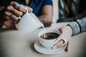 coffee, milk, caffeine