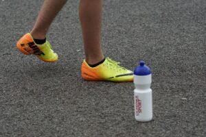 asphalt, sports shoes, start position