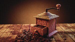 coffee grinder, coffee, powder