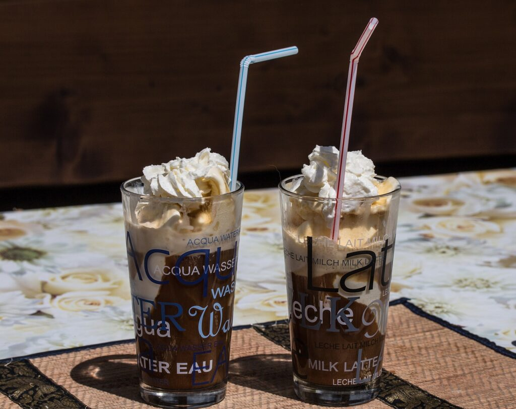 iced coffee, refreshment, drink