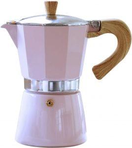 cafetera Gnali & Zani de color rosa
